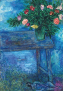 LOT 68 A Marc Chagall (1887-1985) Nu sous la table oil on canvas 32 ¾ x 23 ¼ in. (83.2 x 58.8 cm.) ESTIMATE $1,500,000 - $2,500,000   PRICE REALIZED  1,692,500