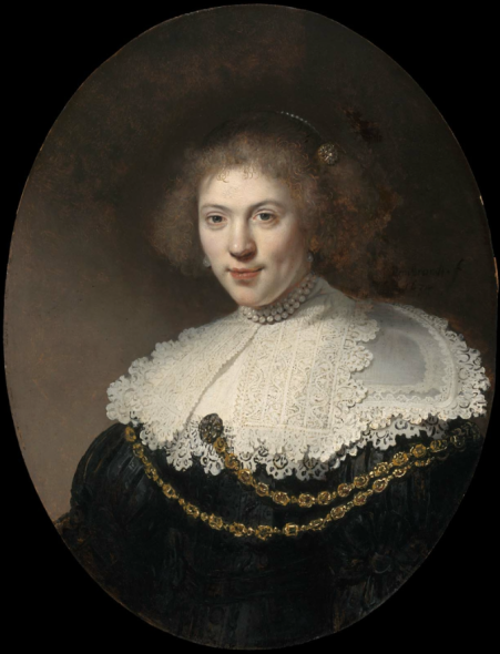 Portrait of a Woman Wearing a Gold Chain  1634 Rembrandt Harmensz. van Rijn (Dutch, 1606–1669)