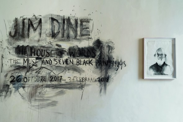 Jim Dine. House of words. The Muse and Seven Black Painting.