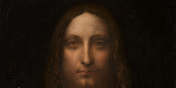 Leonardo da Vinci (1452-1519)  Salvator Mundi  oil on panel 25 7/8 x 18 in. (65.7 x 45.7 cm.)
