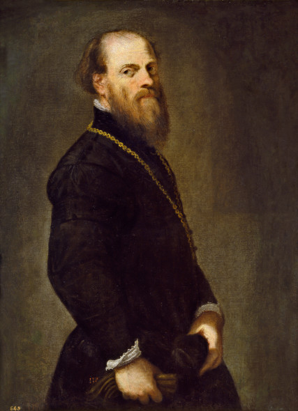 Jacopo Tintoretto, Man with a Golden Chain, c. 1555, oil on canvas, overall: 104 x 77 cm (40 15/16 x 30 5/16 in.), Museo Nacional del Prado, ©Photographic Archive Museo Nacional del Prado