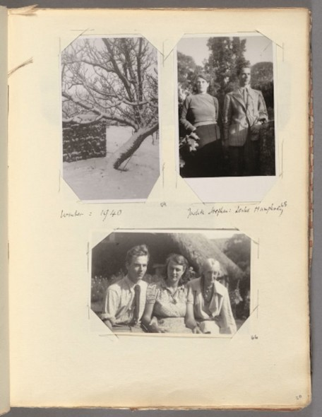 A page from one of Virginia Woolf's personal scrapbooks. Courtesy of the Harvard Library.