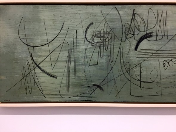 """Hartung- Work on View of the exhibition """"A Constant Storm. Works from 1922 to 1989 - at Perrotin New York"""