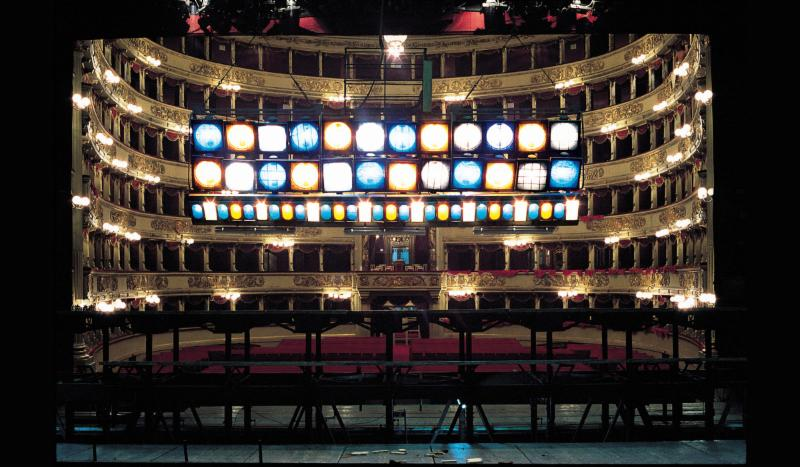Lelli e Masotti, La Vertigine del Teatro alla Scala, 1983, 29 Arts in progress Gallery, Milano