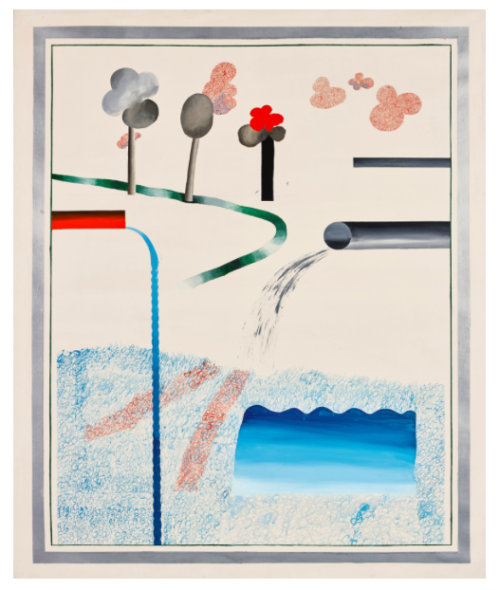 David Hockney DIFFERENT KINDS OF WATER POURING INTO A SWIMMING POOL, SANTA MONICA Estimate   6,000,000 — 8,000,000  GBP - Sotheby's March 7