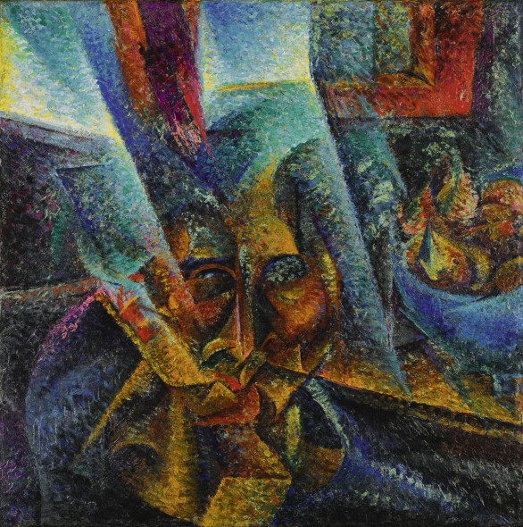 Umberto Boccioni, Testa + luce + ambiente, oil on canvas, 1912 (est. £5,500,000-7,500,000)