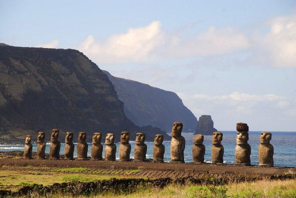 Moai. Foto di RS, via Flickr