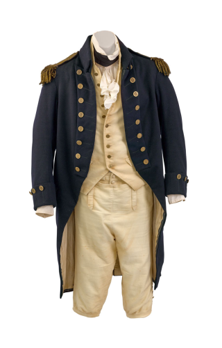 'CAPTAIN JACK AUBREY'S' NUMBER 2 'DRESS BLUES', AS WORN BY RUSSELL CROWE IN THE FILM, MASTER AND COMMANDER (2003) Estimate $25,000 - $35,000