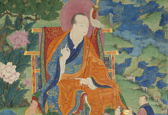 Vajriputra Arhat. 17th century. Possibly Kham (East Tibet) (particolare)