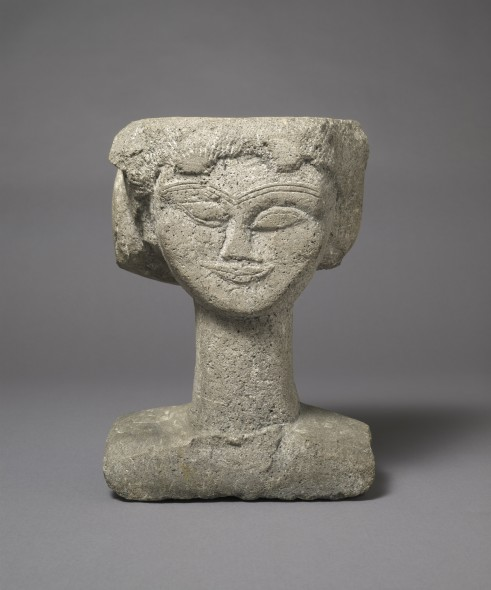 Head c.1911 Medium Stone 394 x 311 x 187 mm Harvard Art Museums/Fogg Museum, Gift of Lois Orswell  © President and Fellows of Harvard College