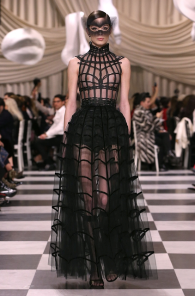 The re-worked version of the transparent dress by Chiuri.