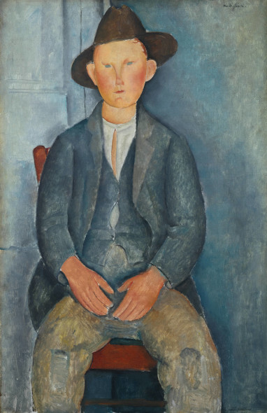 The Little Peasant c.1918 Medium Oil paint on canvas 1000 x 645 mm Tate, presented by Miss Jenny Blaker in memory of Hugh Blaker 1941
