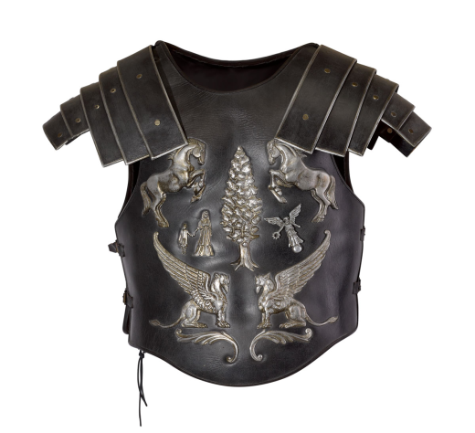 THE IMPORTANT STUNT CUIRASS WORN BY RUSSELL CROWE IN THE SCENE DEPICTING THE DEATH OF THE CHARACTER, 'MAXIMUS', IN THE FILM, GLADIATOR (2000) Estimate $20,000 - $30,000
