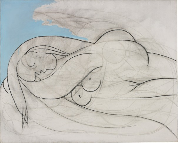10 PROPERTY OF A PRIVATE EUROPEAN COLLECTOR PABLO PICASSO Follow La Dormeuse dated '13 mars XXXII' on the stretcher oil and charcoal on canvas 130.2 x 161.9 cm (51 1/4 x 63 3/4 in.) Executed on 13 March 1932, this work is accompanied by a photo-certificate of authenticity signed by Claude Picasso. Estimate £12,000,000 - 18,000,000 ‡ ♠ SOLD FOR £41,859,000