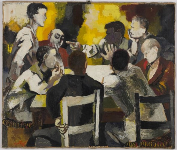 Renato Guttuso, La Discussione, 1957, Est: €100,000-150,000