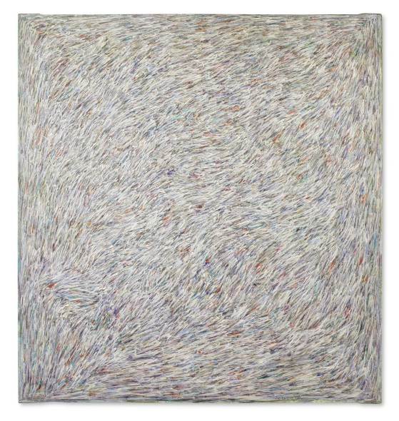 Piero Dorazio UN BEL NIENTE SIGNED AND DATED 58; SIGNED, TITLED AND DATED 1958 ON THE REVERSE, OIL ON CANVAS Estimate 100,000 — 150,000 EUR LOT SOLD. 489,000 EUR
