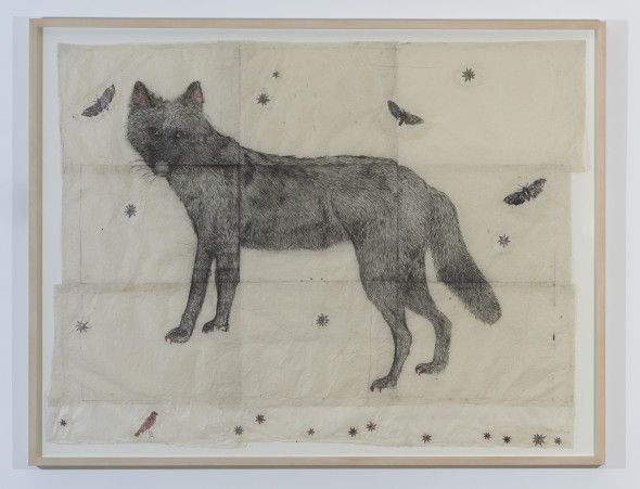 Kiki Smith Now, 2006 Ink, glitter on Nepal paper 152,4×195,6 cm  Courtesy dell'artista e Galleria Raffaella Cortese, Milano