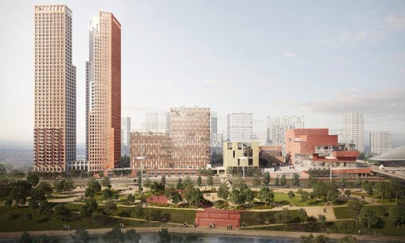 The proposed Stratford waterfront / © Queen Elizabeth Olympic Park