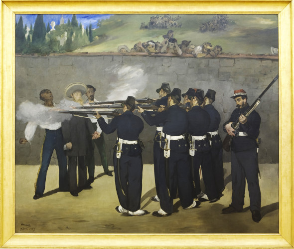 Édouard Manet L'esecuzione dell'imperatore Massimiliano, 1867-68, olio su tela, 193 x 284 cm ©The National Gallery, London
