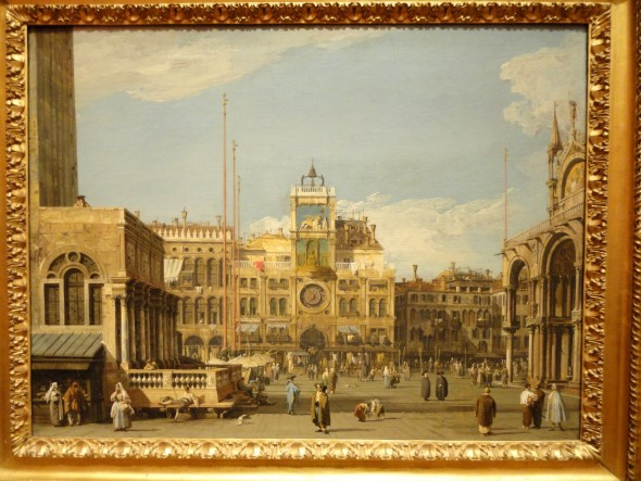 Canaletto (1697-1768) La Torre dell'Orologio in Piazza San Marco, Venezia 1728-1730 olio su tela, cm 52,1 x 69,5 The Nelson-Atkins Museum of Art, Kansas City, Missouri. Purchase: William Rockhill Nelson Trust, 55-36 Photo credit: Melville McLean