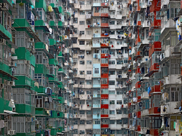 ©Michael Wolf Architecture of Density Hong Kong, 2003-2014 digital C-prints mounted on dibond wooden frame, no glass 185 x 246 cm