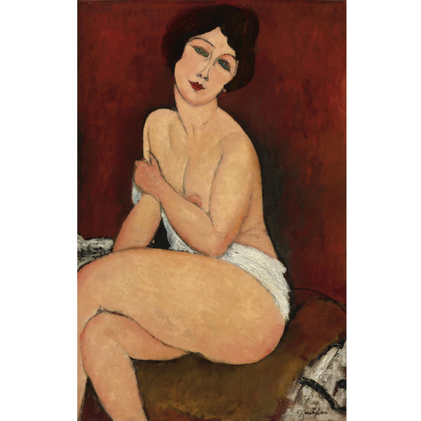 PROPERTY FROM A PRIVATE EUROPEAN COLLECTION Amedeo Modigliani NU ASSIS SUR UN DIVAN (LA BELLE ROMAINE) Estimate     Estimate Upon Request   LOT SOLD. 68,962,500 USD  (Sotheby's, novembre 2010)