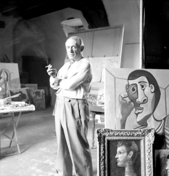 Picasso in his studio, rue des Grands Augustins, Paris, France 1944' by Lee Miller. Photo: © Lee Miller Archives, England 2018. All rights reserved. leemiller.co.uk. Art: © 2018 Estate of Pablo Picasso / Artists Rights Society (ARS), New York.