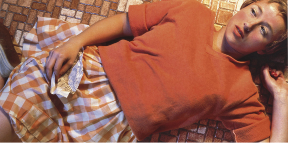 Cindy Sherman (B. 1954)  Untitled  signed, numbered and dated 'Cindy Sherman 10/10 1981' (on a paper label affixed to the reverse) color coupler print  24 x 48 in. (61 x 121.9 cm.)  Executed in 1981. This work is number ten from an edition of ten.  Price realised USD 3,890,500 Estimate USD 1,500,000 - USD 2,000,000