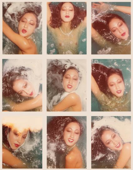A series of pictures depicting Pat Cleveland, 1975.
