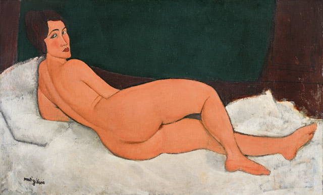 AMEDEO MODIGLIANI, NU COUCHÉ (SUR LE CÔTÉ GAUCHE). ESTIMATED TO SELL FOR IN EXCESS OF $150 MILLION. TO BE OFFERED AT SOTHEBY'S IMPRESSIONIST & MODERN ART EVENING SALE ON 14 MAY IN NEW YORK.