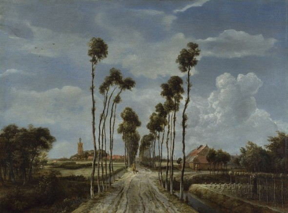 Meindert Hobbema, The Avenue at Middelharnis (1689). Courtesy the National Gallery, London.