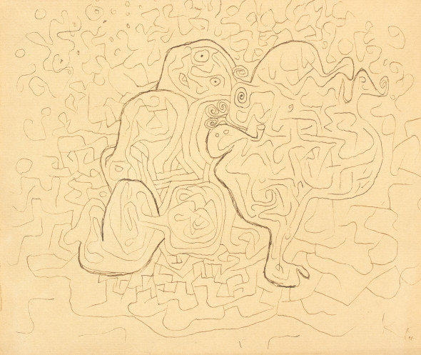 PAUL KLEE Münchenbuchsee, 1879 - Muralto, 1940 In der hecke, 1932 Penna e china su carta applicata dall'artista su cartoncino, ex. L3, 20 x 23,5 cm PROVENIENZA Proprietà personale dell'Artista fino alla sua morte (giugno 1940); Lily Klee (moglie dell'Artista), Berna (1940-1946); Fondazione Klee (1946-1949); Galerie Rosengart, Lucerna; Charlotte Picher Pourcell, Chicago (acquistato nel 1949); John Thorson, New York; M. Knoedler & Co. Inc. New York; Harvey S. Lubitz, New York; Venduto da Parke-Bernet Galeries, Inc. New York, 19 Novembre 1969, lotto 4; Waddington Galleries Ltd, Londra (1970-71); Venduto da Sotheby's Londra, 8 luglio 1971, lotto 97; Acquistato in forma privata da un grande collezionista anonimo nel 1994; Acquistato dall'attuale proprietario presso la Six Art Gallery, Milano nel 1994. Lotto 384 - € 40.000/50.000
