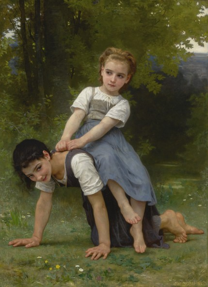 WORKS OF ART SOLD TO BENEFIT THE BERKSHIRE MUSEUM William Bouguereau FRENCH LA BOURRIQUE (THE PONY-BACK RIDE) Estimate 2,000,000 — 3,000,000 USD