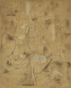 LOT 42 ARSHILE GORKY STUDY FOR THE BETROTHAL  Estimate   1,500,000 — 2,000,000 USD PRICE REALIZED USD 1,695,000