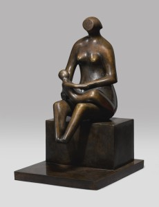 LOT 20 HENRY MOORE MOTHER WITH CHILD ON LAP Estimate   2,000,000 — 3,000,000 USD PRICE REALIZED USD 1,455,000