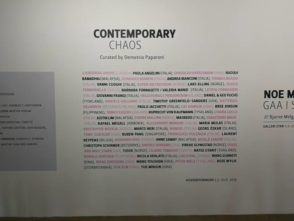 Contemporay Chaos, Vestfossen KunstLaboratorium