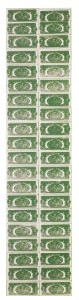 LOT 49 ANDY WARHOL TWO DOLLAR BILLS (BACK) (40 TWO DOLLAR BILLS IN GREEN)  Estimate   2,500,000 — 3,500,000 USDPRICE REALIZED USD 3,015,000