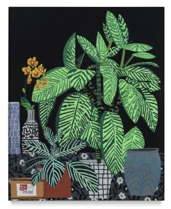 LOT 44 JONAS WOOD BLACK STILL LIFE WITH YELLOW ORCHID Estimate   500,000 — 700,000 USD PRICE REALIZED USD 2,055,000
