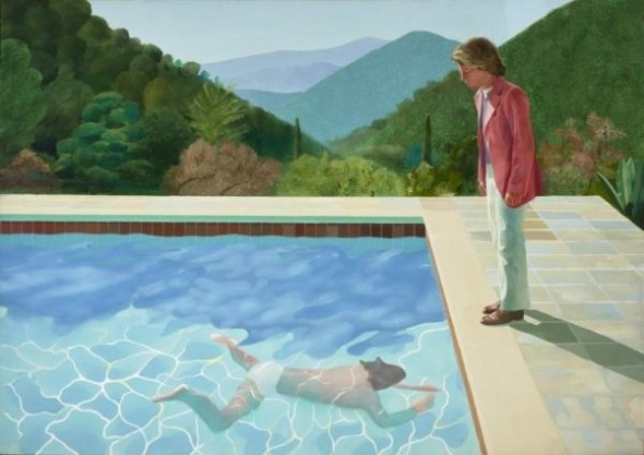 David Hockney, Portrait of an artist-Pool with two figures-1972