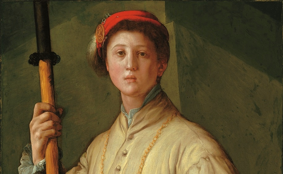 Jacopo da Pontormo, Ritratto di Alabardiere (Francesco Guardi?), Los Angeles, The J. Paul Getty Museum, particolare