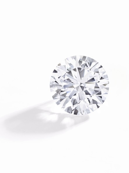 Lot 373 Exceptional diamond ring The round brilliant-cut diamond weighing 51.71 carats Estimate: CHF 7,870,000 – 9,100,000 / US$ 8,200,000 – 9.500,000