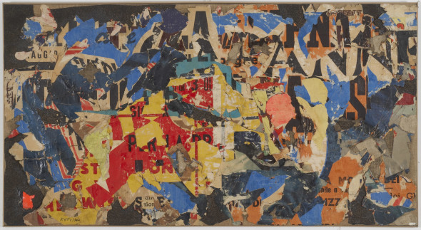 Mimmo Rotella, Collage 12, 1954