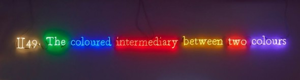 Joseph Kosuth, #II49. (On Color/Multi #9)', 1991 The coloured intermediary between two colours