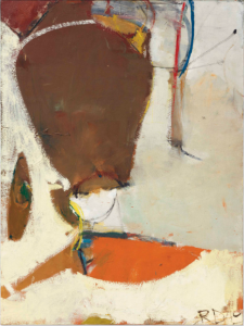 LOT 32 B Richard Diebenkorn (1922-1993) Sausalito oil on canvas 45 3/8 x 34 in. (115.2 x 86.3 cm.) ESTIMATE $500,000 - $700,000   PRICE REALIZED 552,500