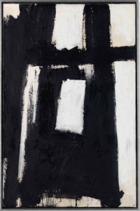 LOT 35 B Franz Kline (1910-1962) Third Avenue oil on canvas 38 x 25 in. (96.5 x 63.5 cm.) ESTIMATE $3,000,000 - $5,000,000   PRICE REALIZED 3,252,500