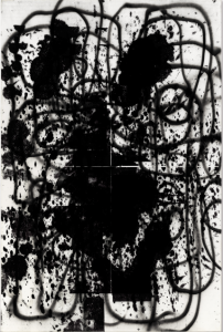 LOT 45 B Christopher Wool (b. 1955) Lester enamel on canvas 108 1/4 x 72 in. (275 x 182.8 cm.) ESTIMATE $2,600,000 - $3,200,000   PRICE REALIZED 3,372,500