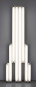 "LOT 47 B Dan Flavin (1933-1996) ""monument"" for V Tatlin cool white fluorescent light 96 x 30 1/2 x 5 in. (243.8 x 77.5 x 12.7 cm.) ESTIMATE $800,000 - $1,200,000   UNSOLD"