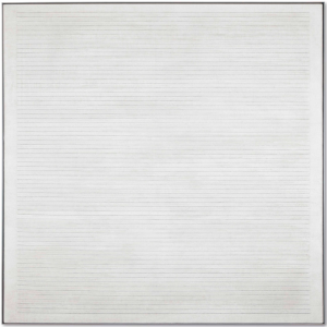 LOT 49 B Agnes Martin (1912-2004) Untitled #7 acrylic and graphite on canvas 72 x 72 in. (182.9 x 182.9 cm.) ESTIMATE $4,000,000 - $6,000,000   PRICE REALIZED 5,712,500
