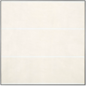LOT 50 B Agnes Martin (1912-2004) Love acrylic and graphite on canvas 60 x 60 in. (152.4 x 152.4 cm.) ESTIMATE $2,500,000 - $3,500,000   PRICE REALIZED 1,932,500
