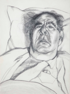 LOT 52 B Lucian Freud (1922-2011) Lord Goodman charcoal on paper 25 1/4 x 19 3/4 in. (64.2 x 47.8 cm.) ESTIMATE $700,000 - $1,000,000   PRICE REALIZED 912,500